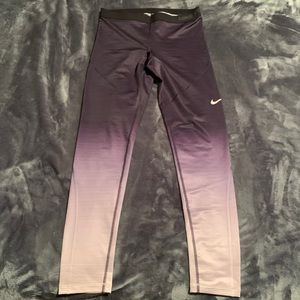 Nike HyperWarm Series Purple Ombré Legging